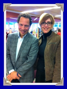 Author Lawrence Hill and moi